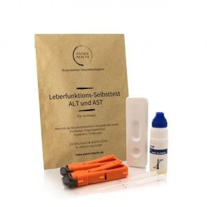 Patris Health - Leberfunktions-Selbsttest - Leberenzyme ALT und AST