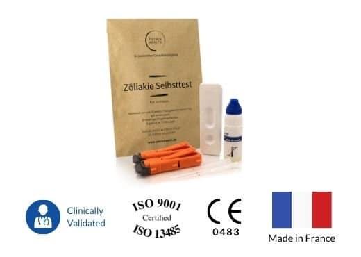 Patris Health - Zertifikate des Heimtestkits für Zöliakie